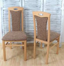 2 x esszimmerstühle massivholz buche natur cappuccino polster stuhlset 2er set ebay