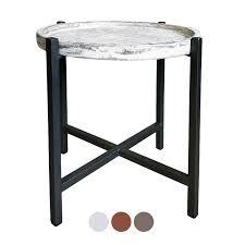 beistelltisch couchtisch wohnzimmer tisch rund omaha metall gestell altsilber oder schwarz