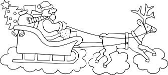 Coloriage Traîneau Du Père Noel à Imprimer