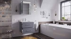 posseik badmöbel set homeline 60 2 teilig anthrazit seidenglanz inkl spiegelschrank mit design le