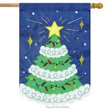 Flagpole Christmas Tree Applique House Flag Conversion Kit