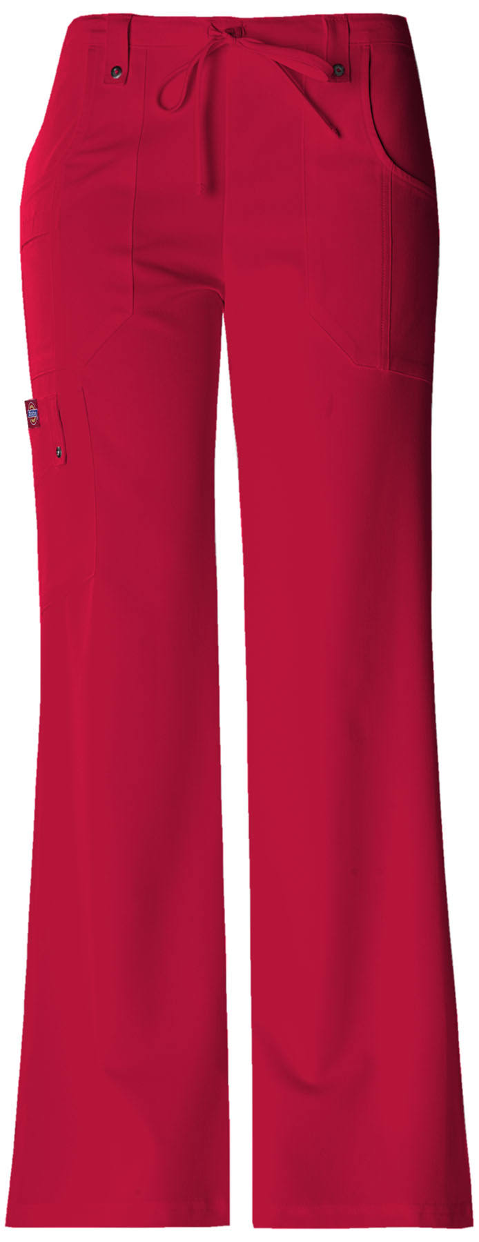 Dickies Xtreme Stretch Drawstring Flare Pants - Red, X-Large