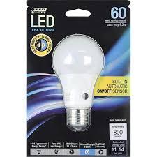 dusk to led light bulb and feit electric 60w equivalent led