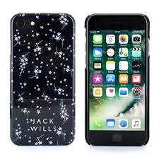 Jack Wills WRAY Glossy Star Print Shell Case for iPhone 7 6