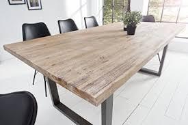 massiver esstisch wotan akazie 160cm massivholz tisch esszimmer holztisch teakgrau gekälkt industrial finish