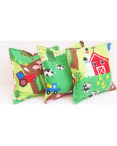 Set Of 3 Kids Bean Bag Toys WASHABLE 4 Inch Farm Themed Birthday Party Game Beanbag