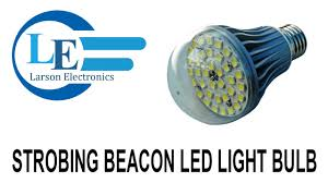 strobing beacon led light bulb 7 watt led a19 style replacement