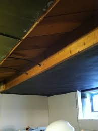 Unfinished Basement Ceiling Paint Ideas by Finishing