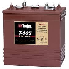 Clarke Floor Scrubber Batteries by Trojan T 105 Gc2 6v 225ah Deep Cycle Flooded Lead Acid Battery Ebay
