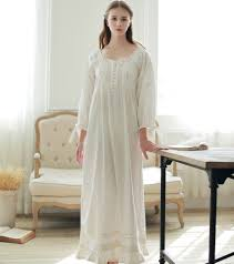 sweet princess lace vintage nightgowns for women white long