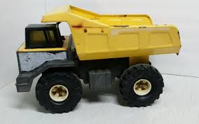 TONKA MIGHTY DIESEL Dump Truck Yellow Metal Steel 1980's Vintage ...