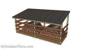 large firewood shed plans myoutdoorplans free woodworking