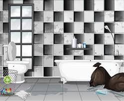 schmutzig mit müll badezimmer szene 294001