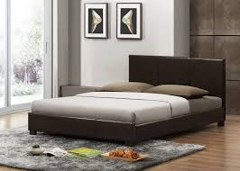 baxton studio pless dark brown modern bed queen size