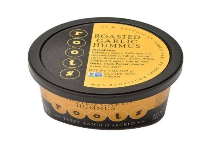 Roots Roasted Garlic Hummus - 8 oz