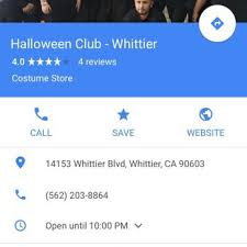 Halloween Club La Mirada Ca by Halloween Club Temp Closed Costumes 14153 Whittier Blvd