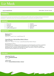 Resume Format In Nursing Pdf Feat Nurse Example Examples For