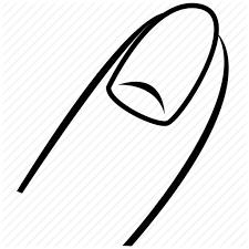 body finger index finger nail organ point thumb icon