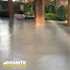 A Granite Garage Floor Is The Finishing Touch To An Awesome Outdoor Space GraniteGarageFloors GarageFloorMakeover Granitegaragefloors