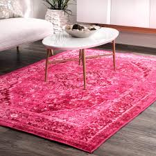 nuLOOM Traditional Vintage Inspired Overdyed Fancy Pink Area Rug