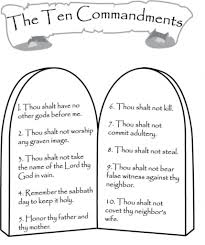 Ten Commandments Coloring Pages Az With Regard To 10 Page