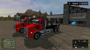 KW T800 Log Truck Pack - Mod For Farming Simulator 2017 - Kennworth