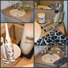 Safari Decorated Living Rooms by African Bathroom Decor Next I Made Over The Sink Area With World