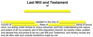 Step 2 Fill In Who Will Represent As The Personal Representative Also Known Executor Of This Be Individual That Oversee