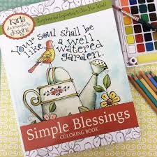 INSTANT DOWNLOAD Simple Blessings Adult And Childrens Coloring