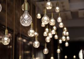 clear bulb and pendant lights by broom woont
