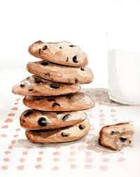 Cookies and milk illustration