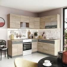 details zu küche l form alina 180 x 220 cm küchenzeile einbauküche sonoma eiche neu
