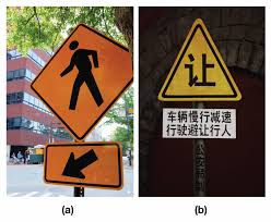 The Photo A Shows Sign Of Pedestrian Crossing And An Arrow