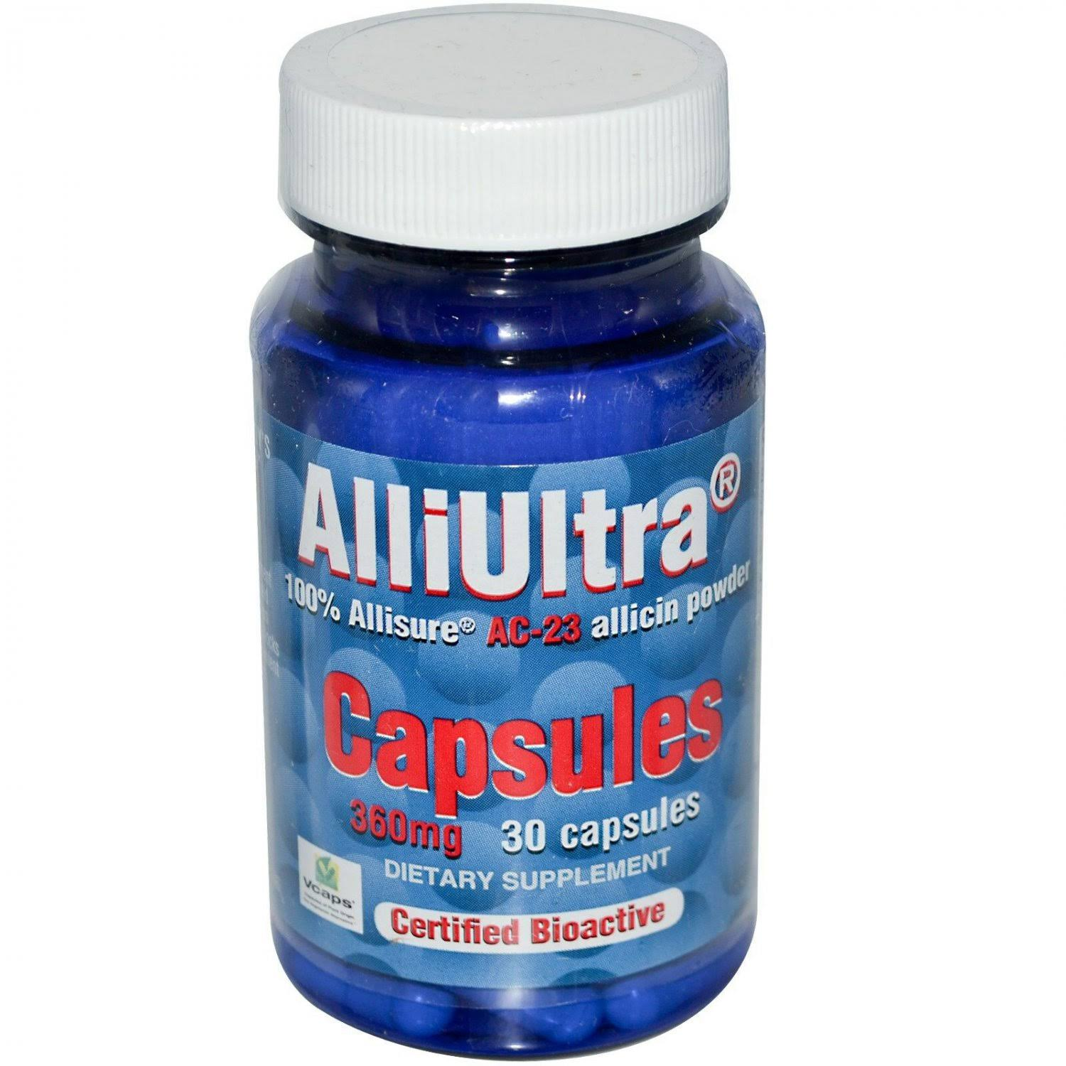 Allimax Alliultra AC-23 Allicin Capsules - 360mg, x30