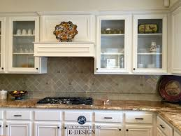 Maple Wood Kitchen Cabinets Painted White Down Benjamin Moore Kylie M E Design Online Virtual Paint Consulting Granite Countertop Backsplash Glass