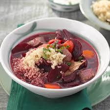 rote bete eintopf mit quinoa