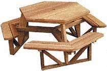 woodworker com hexagon picnic table plan provides walk through