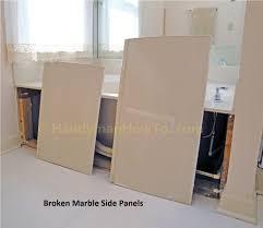 Tiling A Bathtub Lip by How To Repair A Broken Marble Bathtub Panel Part 1