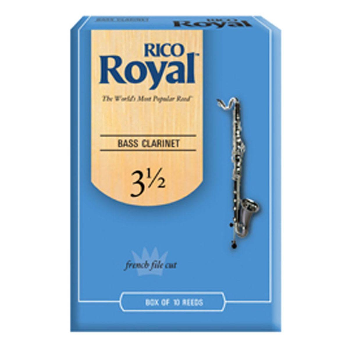 Rico Royal Bass Clarinet Reeds - Box of 10, Strength 3.5