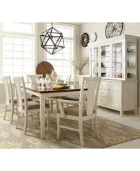 edgewater white 9 pc dining table set 6 side chairs 2 arm