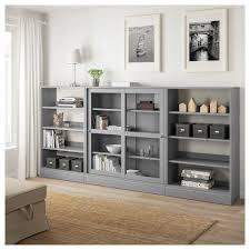havsta storage with sliding glass doors gray ca ikea