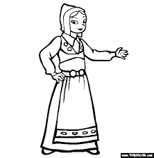 Ethnic Wear Online Coloring Pages