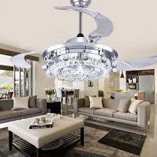 LED Fan Crystal Chandelier Dining Room Living Droplights Modern Wall Remote Control Lights In Chandeliers From Lighting