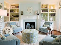 impressive blue green grey living room with black and white teal