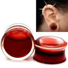Blood Red Liquid Filled Globe Acrylic Ear Plugs Flesh Tunnels 8 25mm Online With 922 Piece On Lovebeauty S Store