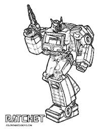 Coloring Transformer Coloring Page