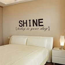 Shine Today Is Your Day Vinyl Wall Stickers Quotes Bedroom Indoor Art Decor Diy Removable Black Decals Decoration In From Home