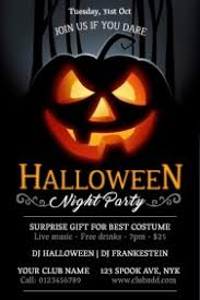 Free Halloween Invitation Templates Microsoft by Halloween Flyer Templates Postermywall