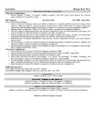 Promotions Event Planner Resume Example