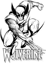 X Men Coloring Pages Wolverine